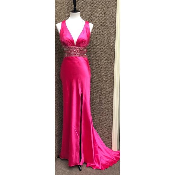 59% off Glam Gurlz Dresses New Fuchsiahot Pink Formal Gown | Poshmark